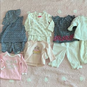 Lot of 11 pieces Baby girl outfit  bought in Paris